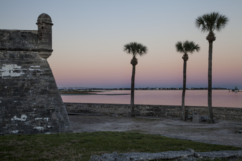 Southeast Corner of Castillo de San Marcos Overlooking the Matanzas River at Dawn