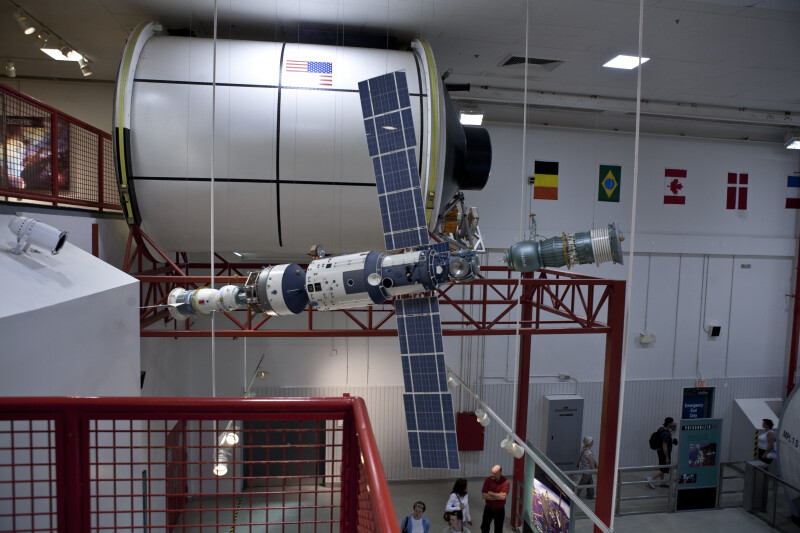Spacecraft Docking With Station