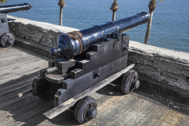 "Spanish 6-Pounder, Modern, Iron Gun Cannon Called, ""El Barbaro"""