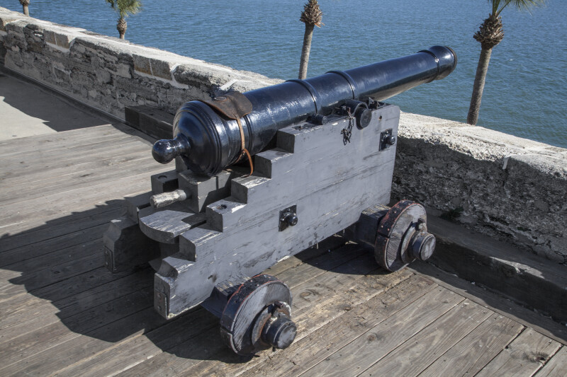 "Spanish 6-Pounder, Modern, Iron Gun Cannon Called, ""La ..."