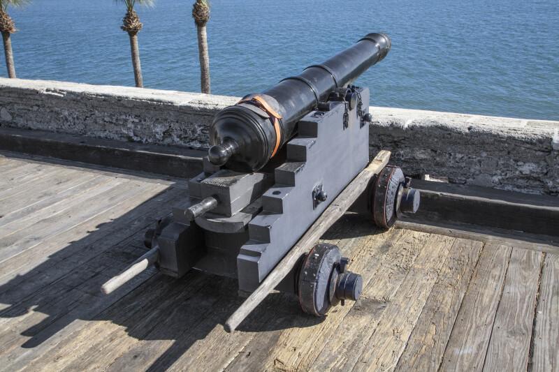 "Spanish 6-Pounder, Modern, Iron Gun Cannon Called, ""San Cristobal"""
