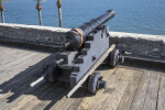 "Spanish 6-Pounder, Modern, Iron Gun Cannon Called, ""San Cristobal"""