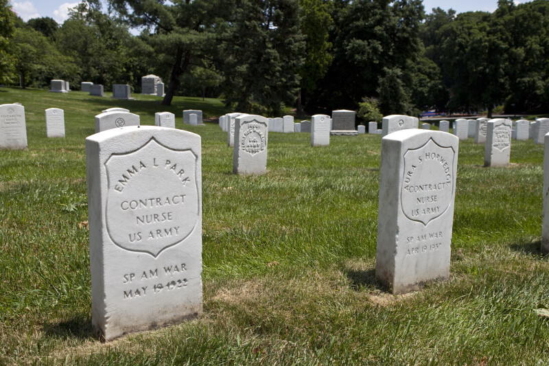 Spanish-American War Contract Nurse Headstones