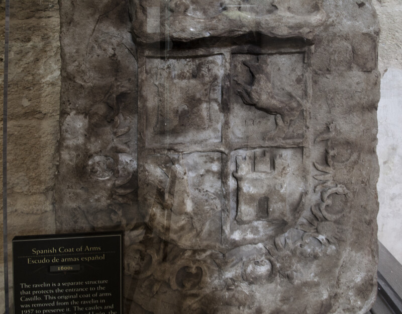 Spanish Coat of Arms Carved into Castillo de San Marcos' Ravelin