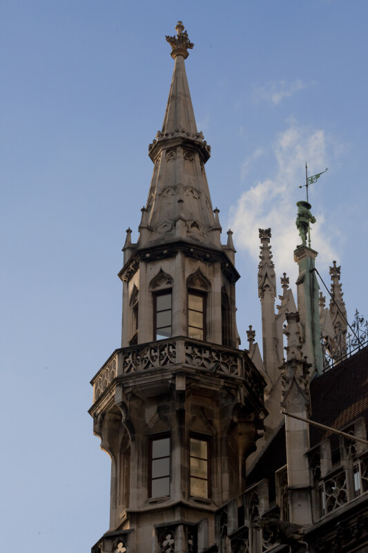 Spire of New Town Hall in Munich