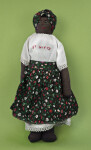 St. Kitts Cloth Doll with Embroidered Face and Blouse (Full View)