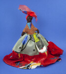 St. Lucia Cloth Doll with Embroidered Face and Skirt (Full View)