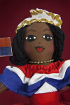 St. Maarten Handcrafted Doll of Girl Made with Fabric with Hand Painted Face  (Close Up)