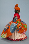US Virgin Islands, St. Thomas Hand Made Woman with Straw Cone Supporting Her White Petticoat (Side View)