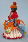 US Virgin Islands, St. Thomas Lady Made from Stuffed Cloth and Straw with Gold Jewelry (Three Quarter View)