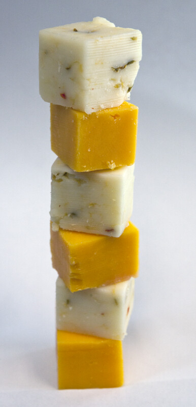 Stack of Cheese Cubes