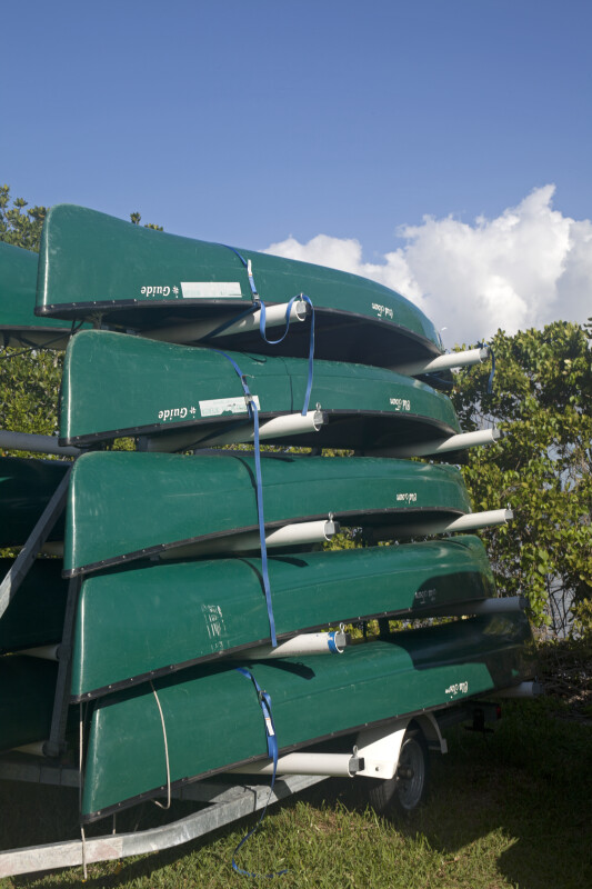 Stacked, Green Canoes