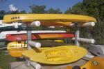 Stacked Kayaks