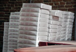 Stacked Paper Pizza Boxes