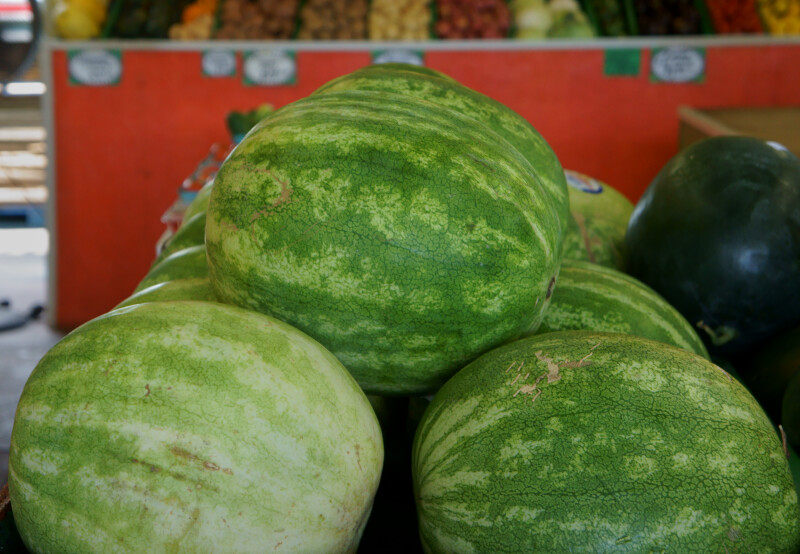 Stacked Seedless Watermelons