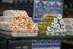 Stacked Turkish Delights in Glass Pans