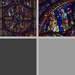 Stained Glass Windows, Chartres Cathedral photographs