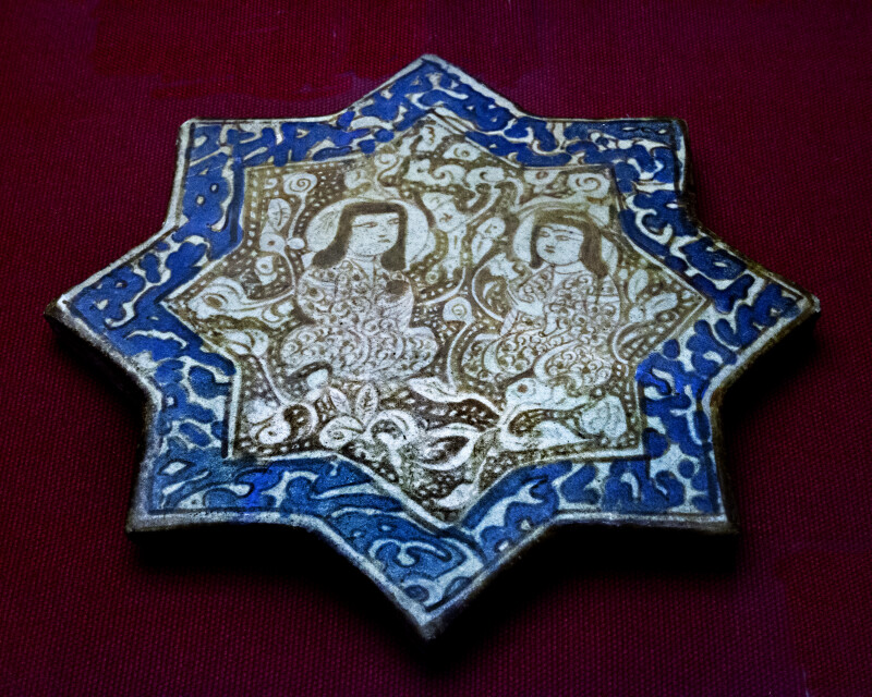 Star-Shaped Tile at the Museum of Turkish and Islamic Art in Istanbul