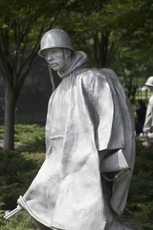 Statue at Korean War Memorial
