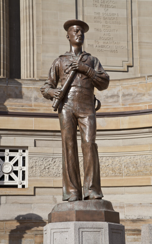 Statue at Soliders and Sailors' Memorial Hall
