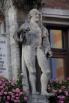 Statue of a Man at New Town Hall