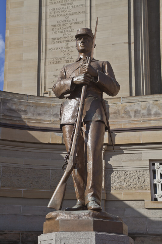 Statue of Army Soldier at Soliders and Sailors' Memorial Hall