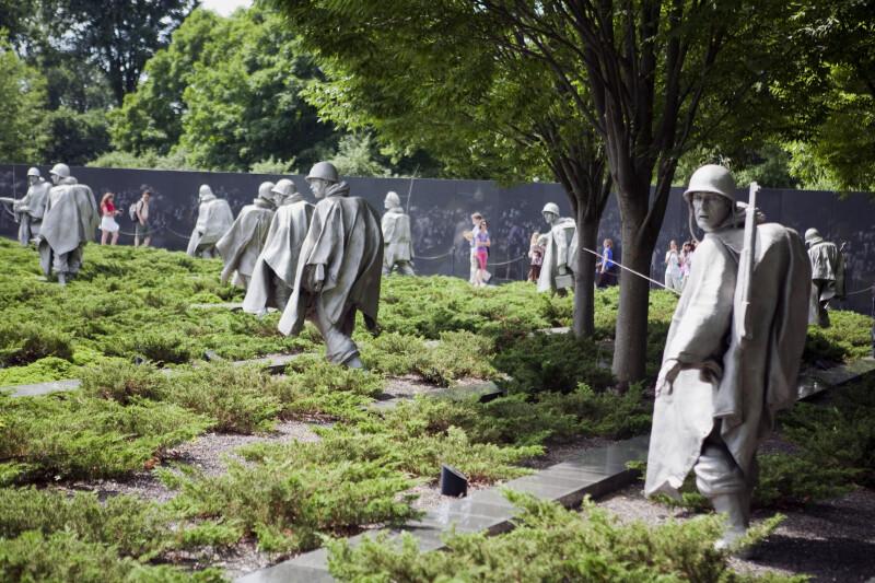 Statues at Korean War Memorial