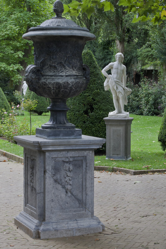 Statues in a Garden at the Artis Royal Zoo