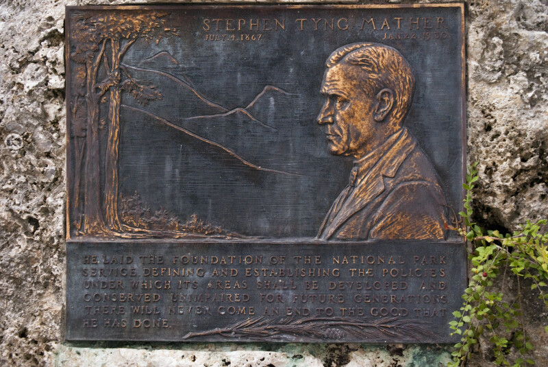 Stephen Tyng Mather Plaque