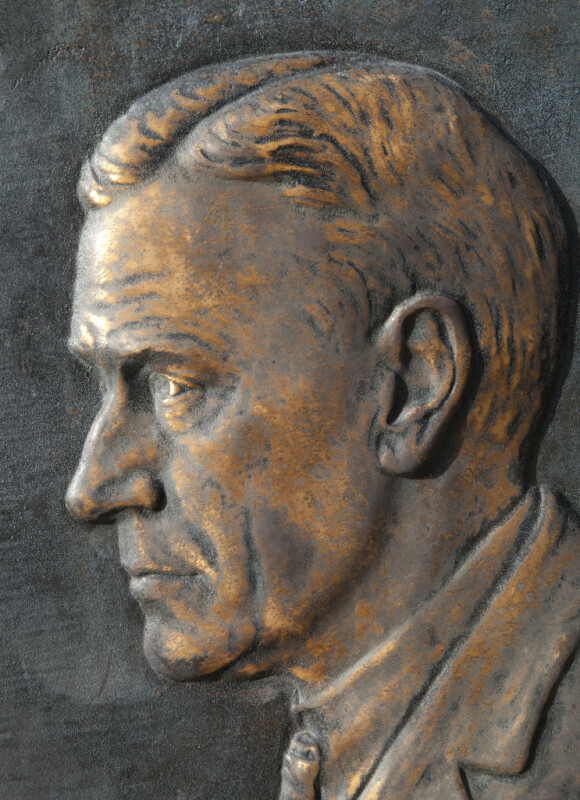 Stephen Tyng Mather Relief Portrait