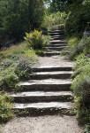 Steps on Footpath