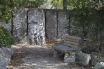 Stone and Wood Bench