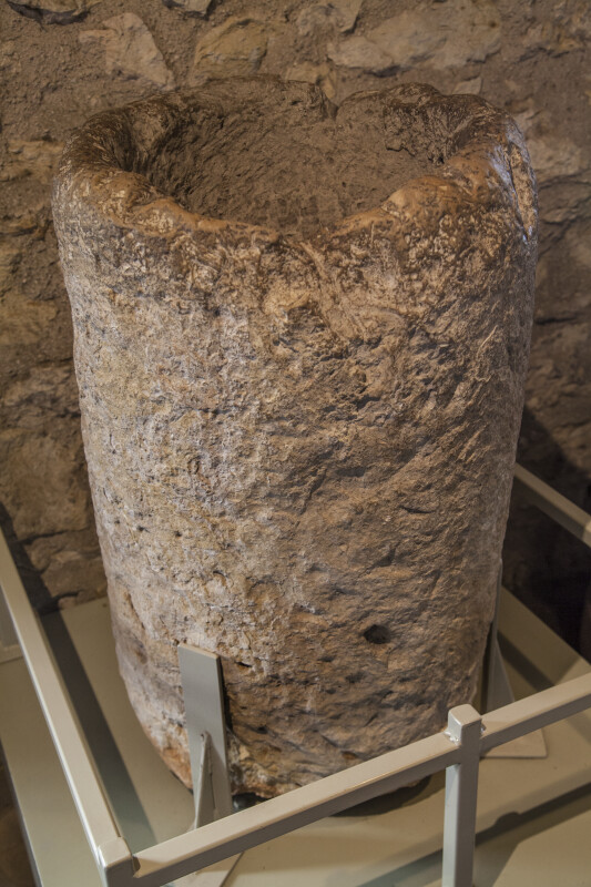 Stone Baptismal Font at Mission San Antonio de Valero