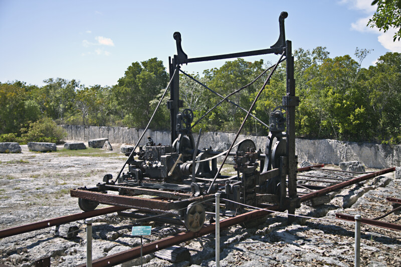 Stone Cutting Machinery at Windley Key Fossil Reef Geological State Park