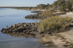 Stone Jetty Protecting Shoreline at Fort Matanzas