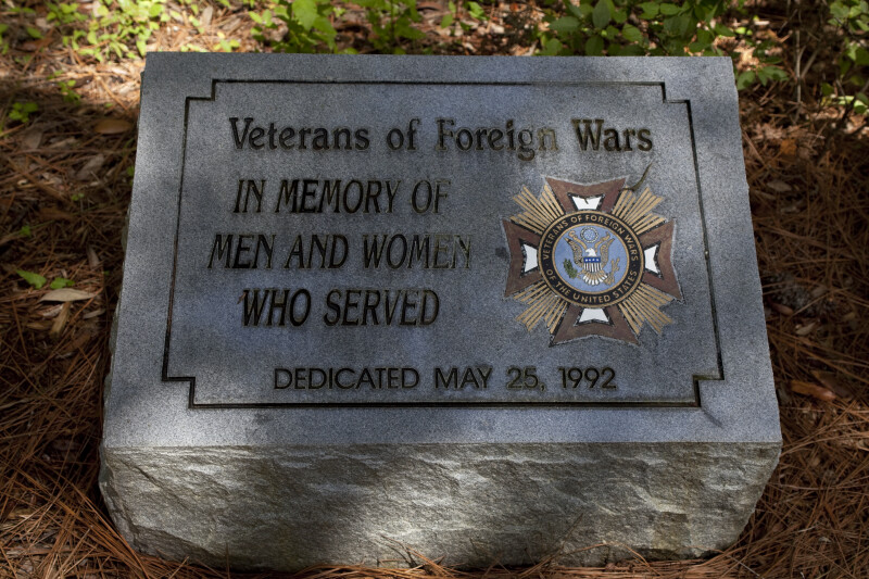 Stone Plaque to Veterans