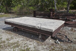 Stone Slab on a Rusted Wagon at Windley Key Fossil Reef Geological State Park
