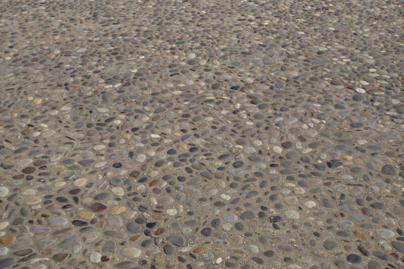 Stones in Sidewalk