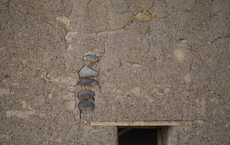 Stones Set in Adobe at Castolon