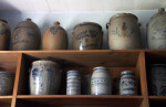 Stoneware Vessels on a Shelf