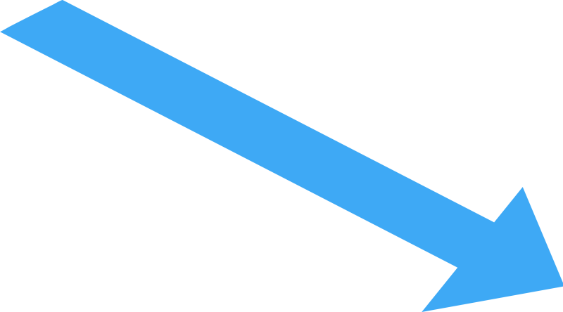 Straight, Narrow Directional Pointing to Lower Right