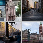 Streets and Plazas of Frankfurt photographs