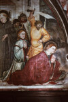 Subiaco, Sacro Speco, Upper Church, South Transept, Martyrdom of St. Flavia and the Companions of St. Placidus