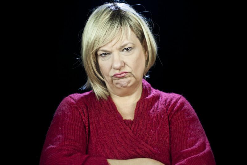 Sulking Facial Expression