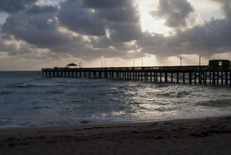 Sunny Isles Beach Pier at Sunset