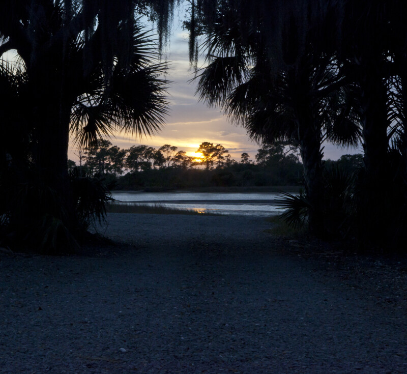 Sunset at Cedar Key Scrub State Reserve