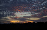 Sunset Giving Clouds Orange Hue
