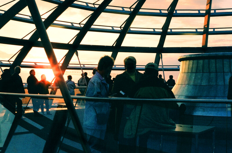 Sunset in Berlin from the Dome of the Reichstag