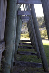 Supporting Beams of Reconstructed Fort Caroline's Sea Wall