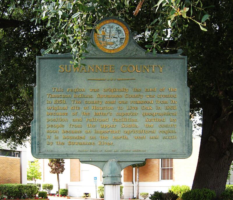 Suwannee County Sign